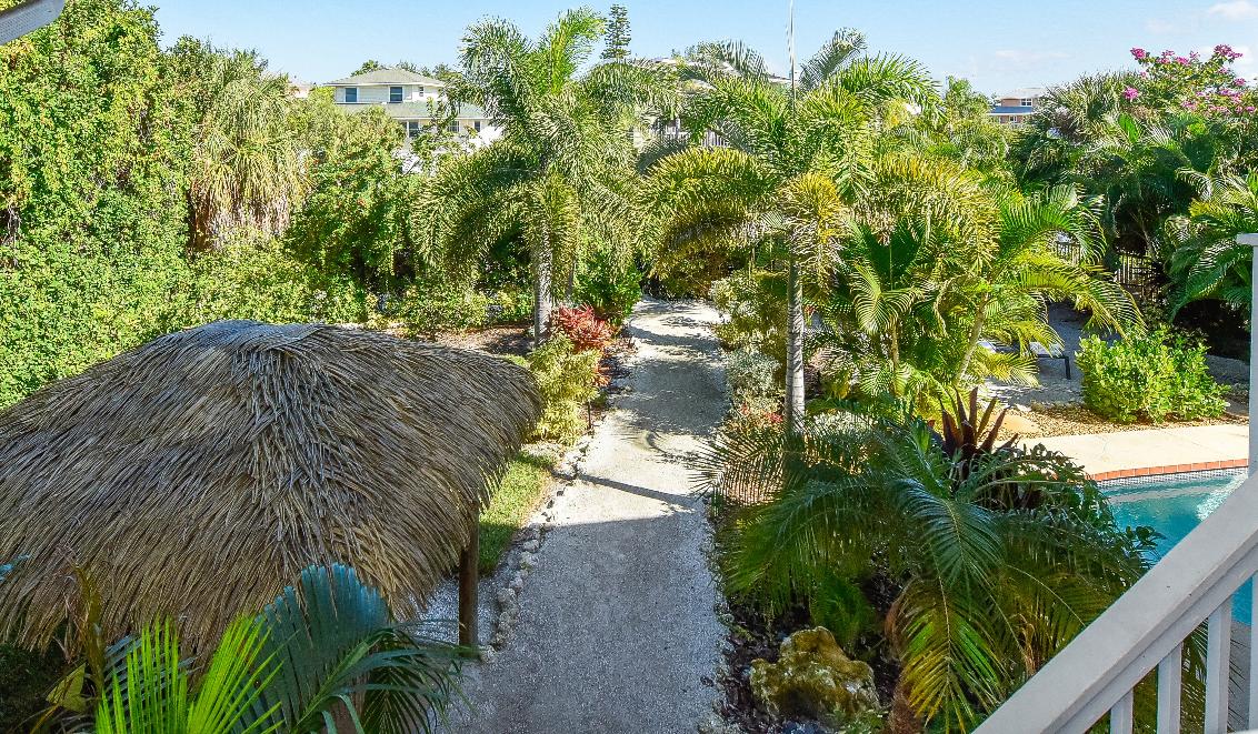 Sirenia Beach House Backyard View