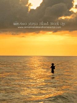 Boy fishing in Gulf of Mexico