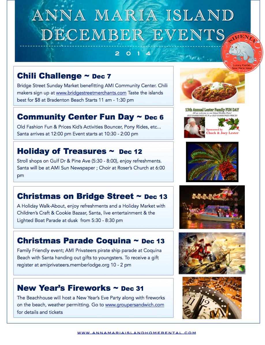 Anna Maria Island Beach Life Blog's December 2014 Events