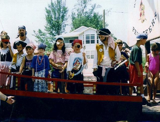 Children dressed as pirates on Anna Maria Island