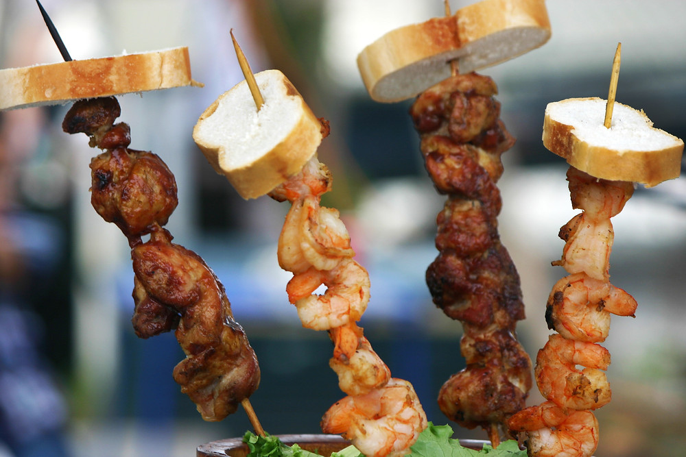 Chicken and Shrimp Shish Kabobs at the Cortez Fishing Festival