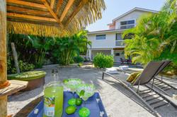 Sirenia Beach House Tiki Hut View