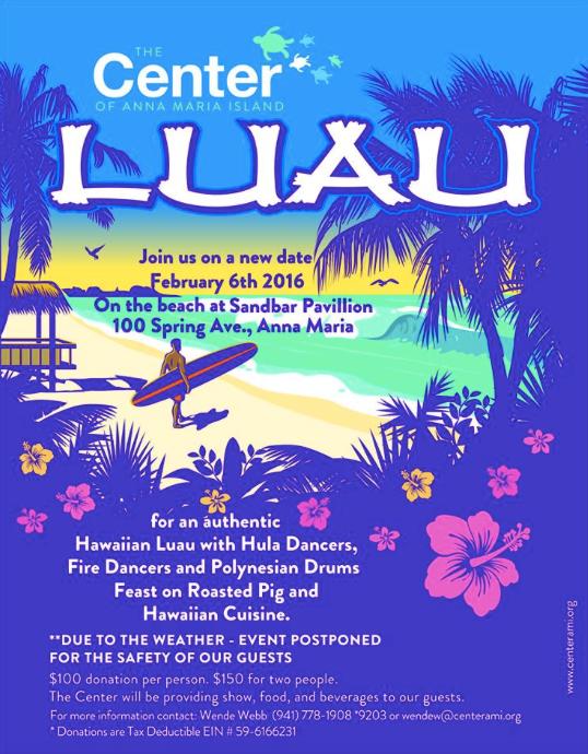 Hawaiian Luau Poster Anna Maria Island