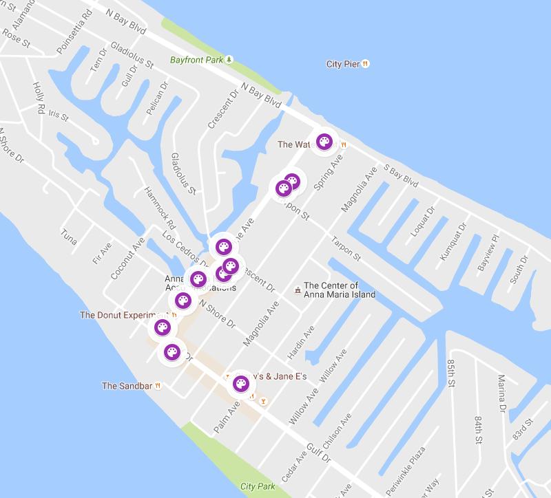 Map of ArtsHOP - Anna Maria