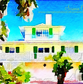 Watercolour painting of Sirenia Cove Vacation Rental