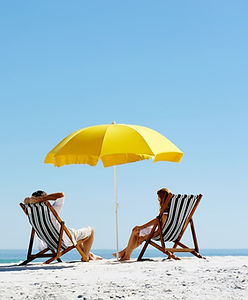 Yellow Beach Umbrella Stripe Charis (1).