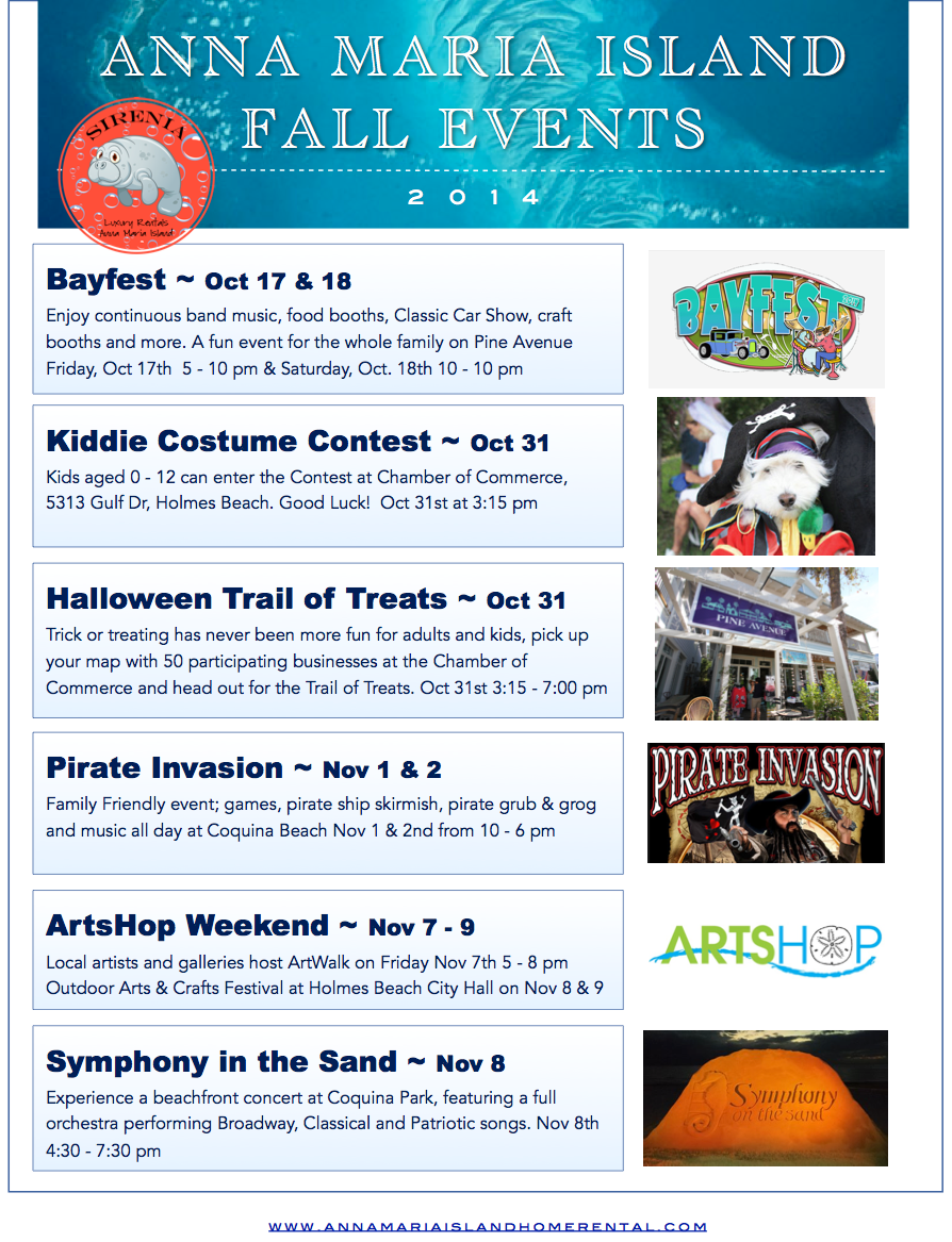 Fall Events 2014 Anna Maria Island