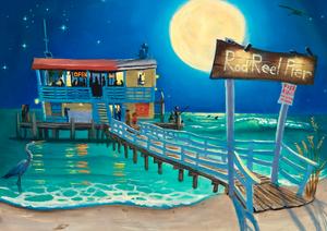 Anna Maria Island Art League - Painting of Rod n Reel Pier