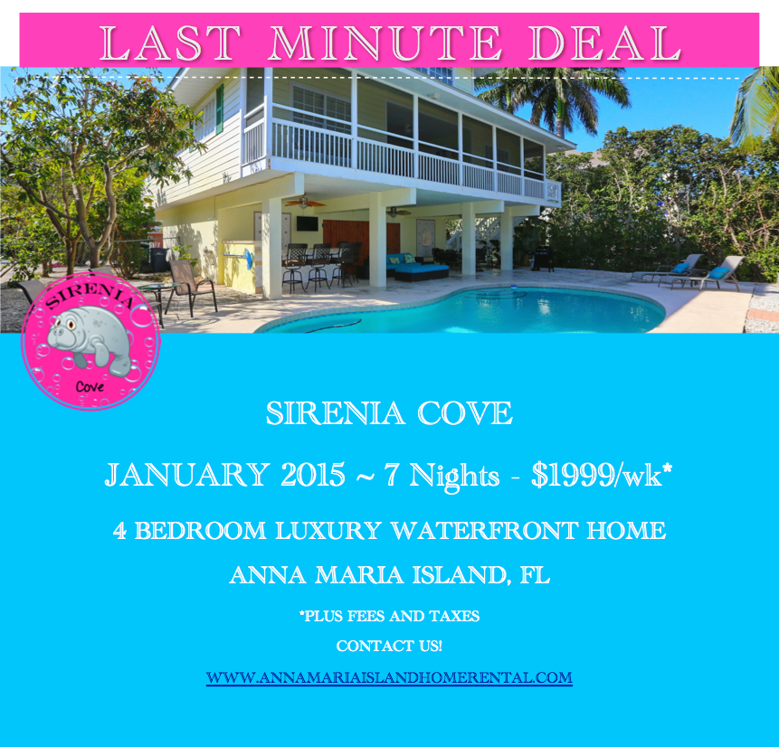 last minute deal Sirenia Cove Vacation Rental