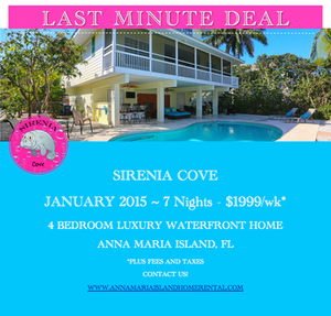 last minute deal Sirenia Cove Vacation Rental