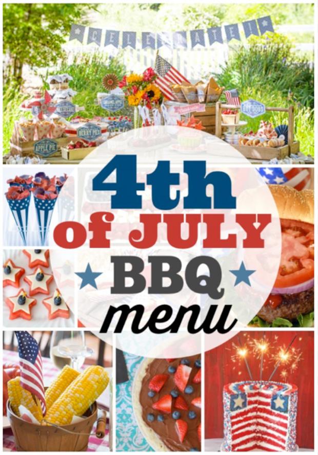 July 4th BBQ menu