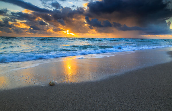 Sunset, Stormy Sky, Beach, Florida