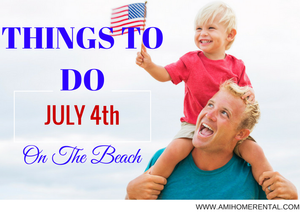 Kid's Enjoying July 4th flying American Flag at the Beach - Coastal Living