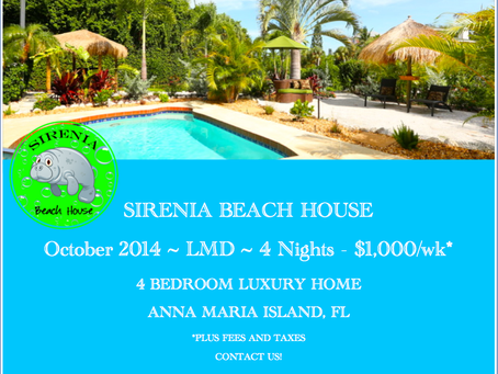 Last Minute Deal - Sirenia Beach House - Anna Maria Island, Florida
