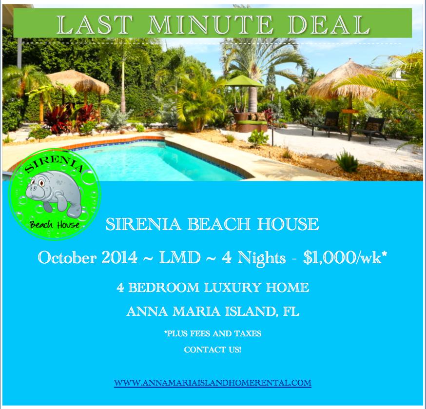Last Minute Vacation Rental Deal Sirenia Beach House
