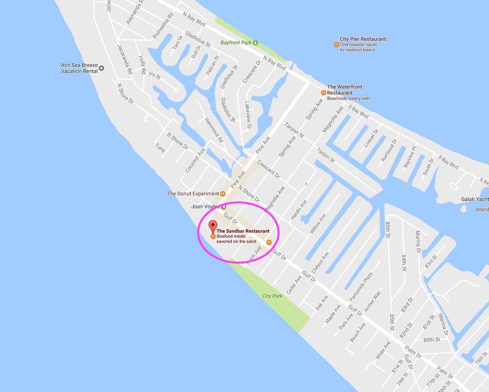The Sandbar Restaurant Location