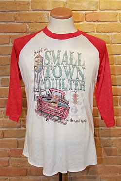 """Small Town Quilter"" Raglan"