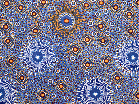 Onion Dreaming (Blue) by Doris Inkamalab