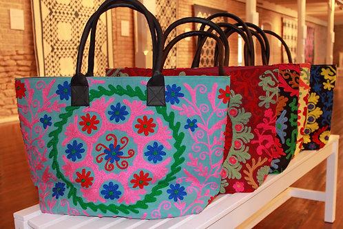 Indian Sujhani Tote Bags