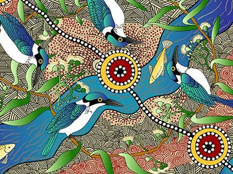 Kingfisher Camp by River Ecru by Nambooka