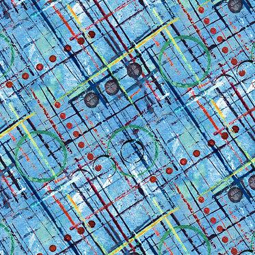 Color Labyrinth: Trellis Blue