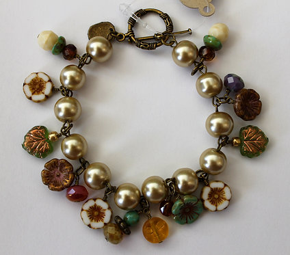 Grandmother's Flower Garden Bracelet