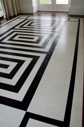 geometric flooring design