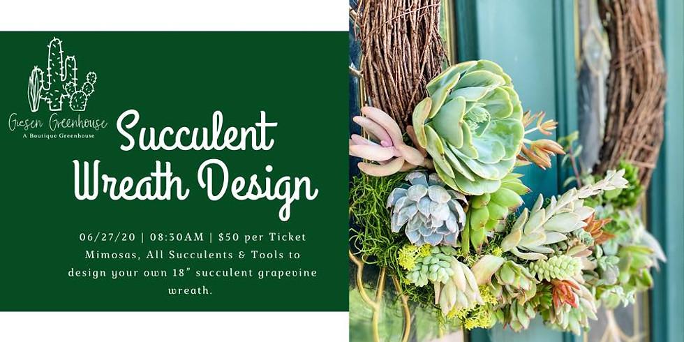 Succulent Wreath Design