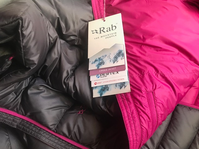 Rab Down jacket with tags