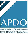 The Assocation of Professional Declutterers and Organisers APDO logo