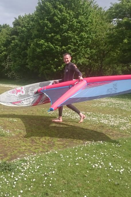 SUP 2 Windsurf conversion | broglake|sup|windsurf|stand|up|paddle