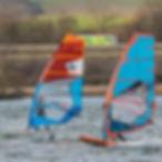 windfoil vs windsurf, foil vs fin windsurfig at broglake with friends