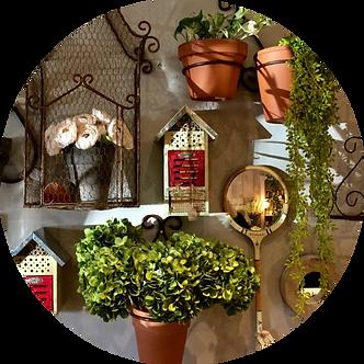 Garden Bleau Pots Background