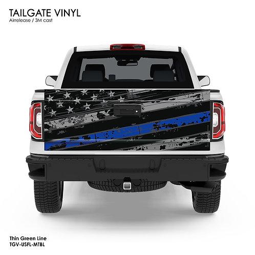 US FLAG TAILGATE VINYL (BLUE)