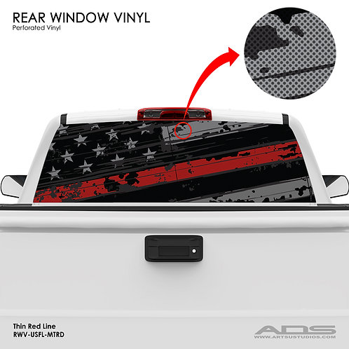 US FLAG PERFORATED VINYL (RED)