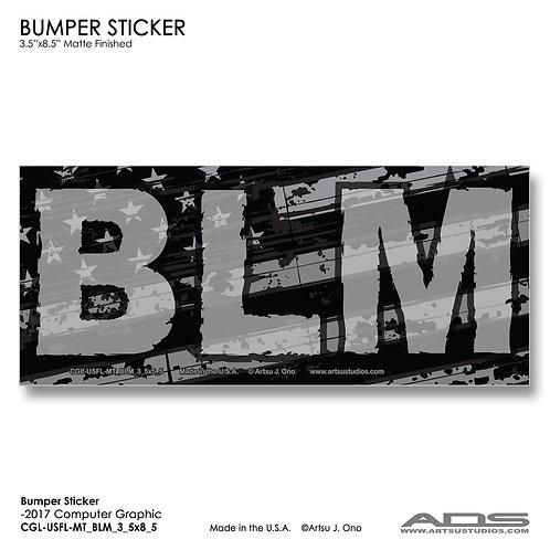 US FLAG BLM: Bumper Sticker