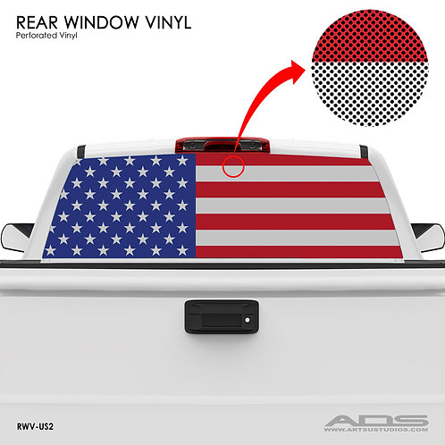 US FLAG PERFORATED VINYL v.2 (Classic)