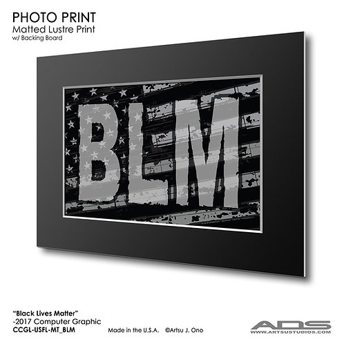 US Flag BLM: Photograph