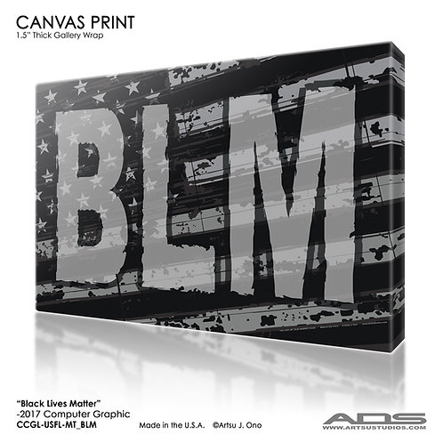 US Flag BLM Canvas