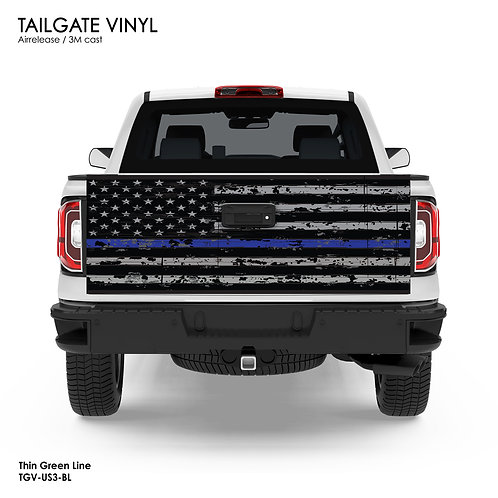 US FLAG TAILGATE VINYL v.3 (BLUE)