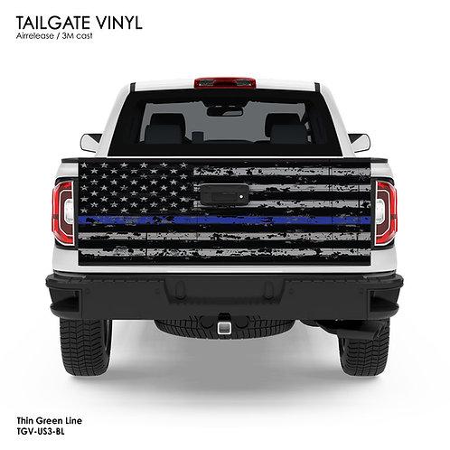 US FLAG TAILGATE VINYL v.3 (BLUE)