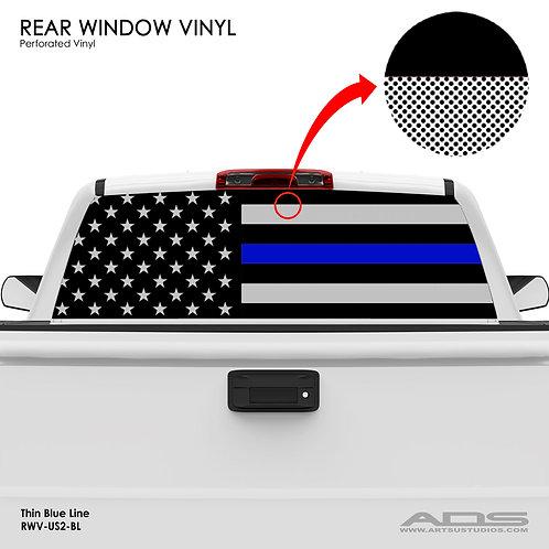 US FLAG PERFORATED VINYL v.2 (BLUE)