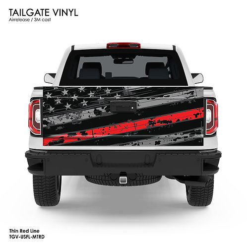US FLAG TAILGATE VINYL (RED)