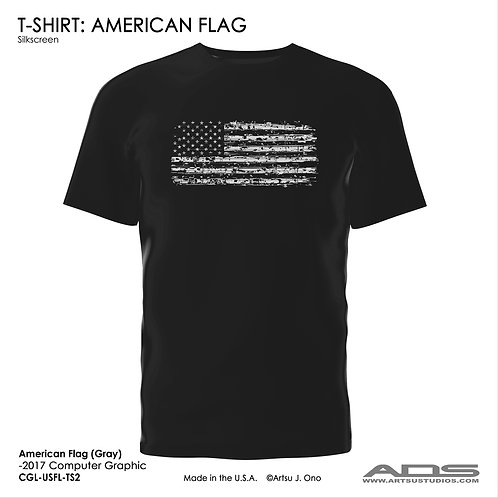 US Flag T-shirt: Gray