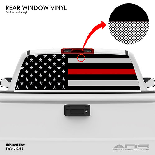 US FLAG PERFORATED VINYL v.2 (RED)