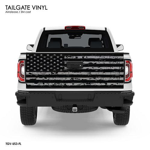 US FLAG TAILGATE VINYL v.3 (GRAY)