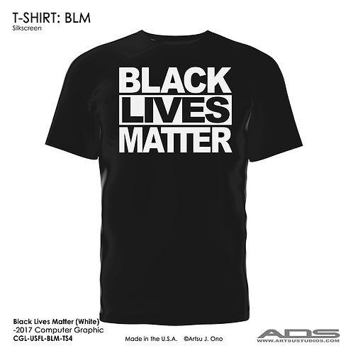 "BLM T-shirt: ""BLACK LIVES MATTER"" White"