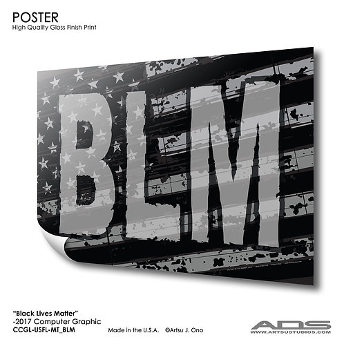 US Flag BLM: Poster