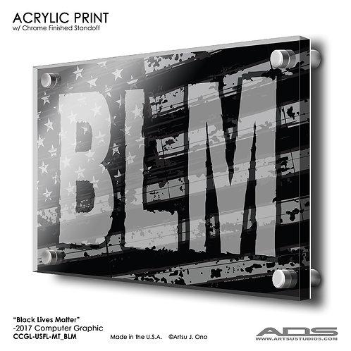 US Flag BLM: Acrylic Print