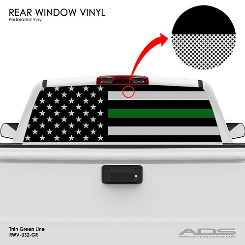 US FLAG PERFORATED VINYL v.2 (GREEN)